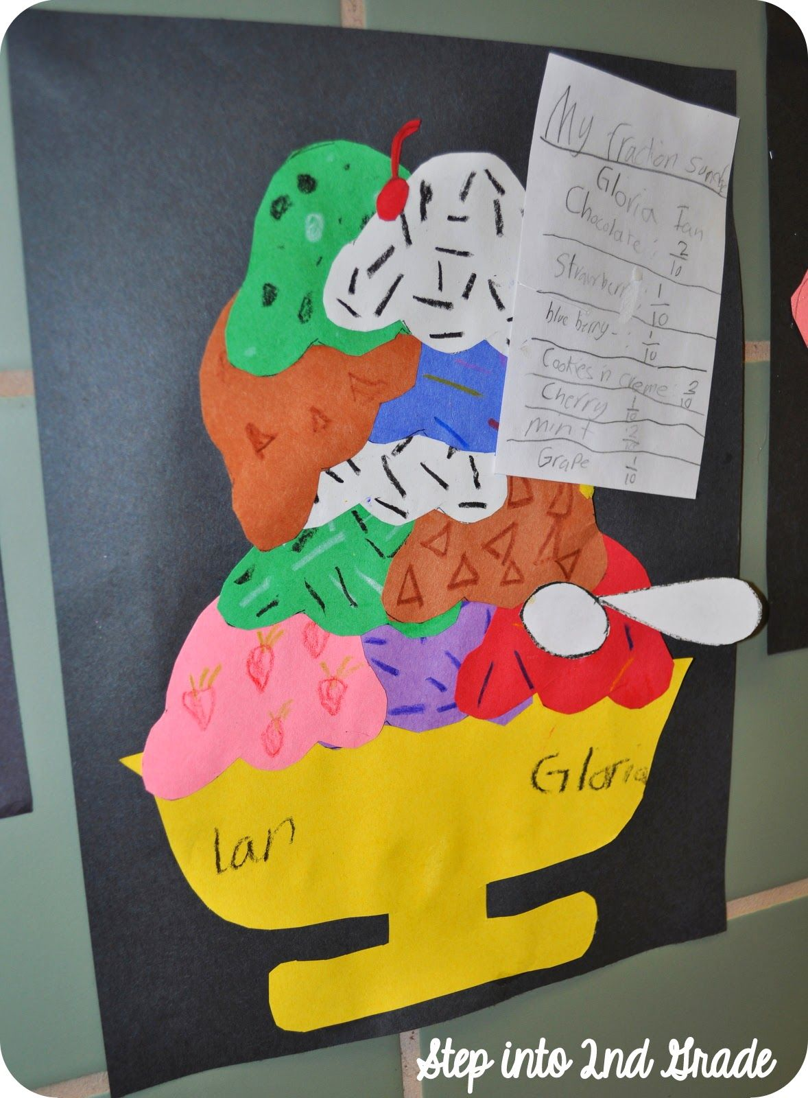 Step Into 2nd Grade With Mrs Lemons Lots Of Stuff Fractions Craft