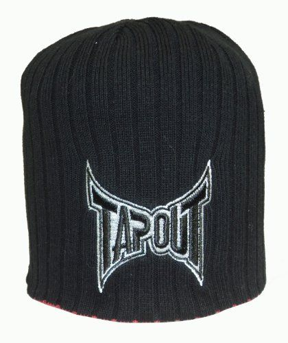 18fd1ccb10 Tapout Simply Black / Red Reversible Knit Beanie TapouT. $16.95 ...