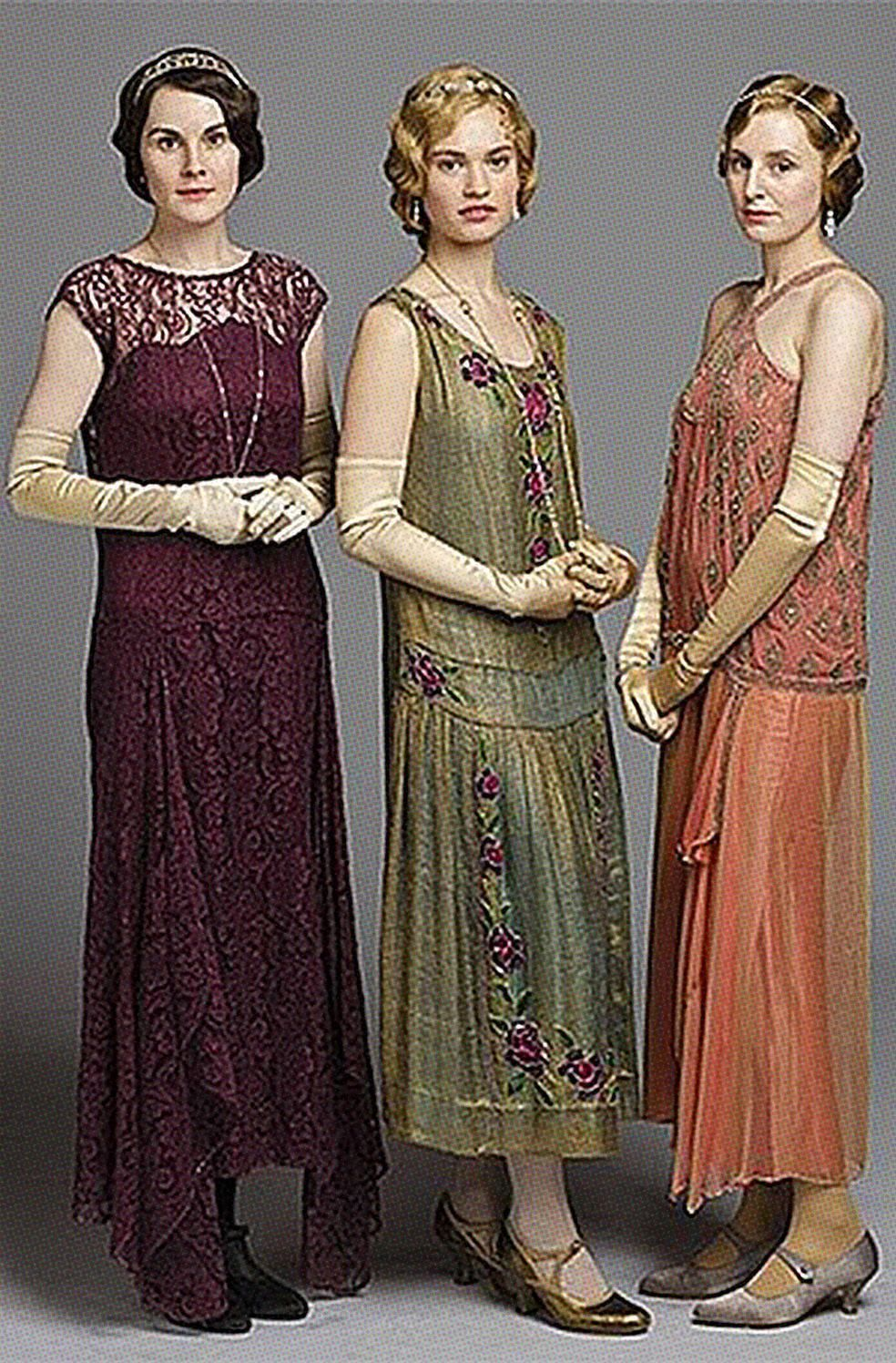 Downton Abbey C 1920s Beaded Embroidered Green Lame\' French Flapper ...