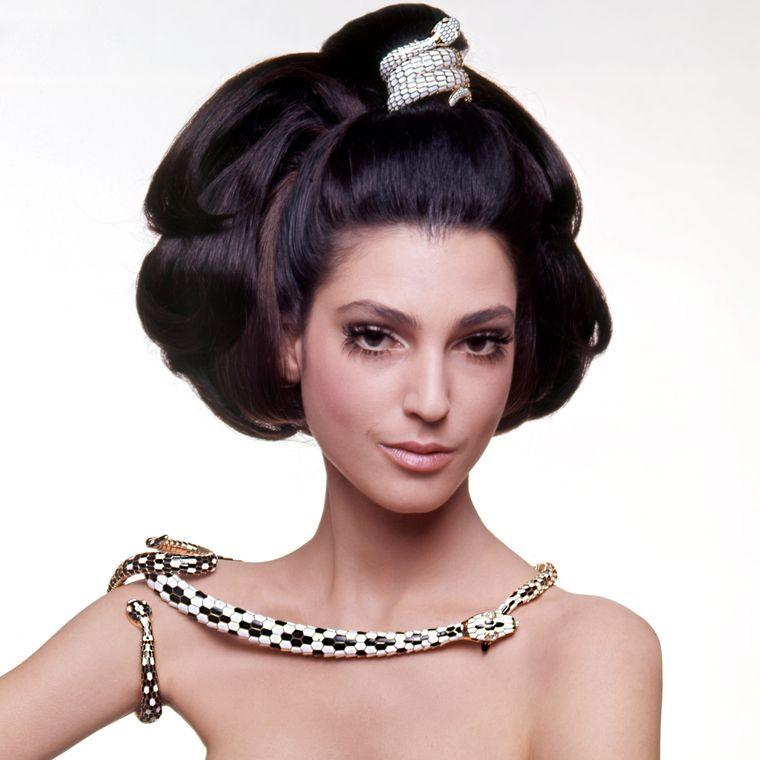 Benedetta Barzini Wearing Bulgari My Jewelry Fascination