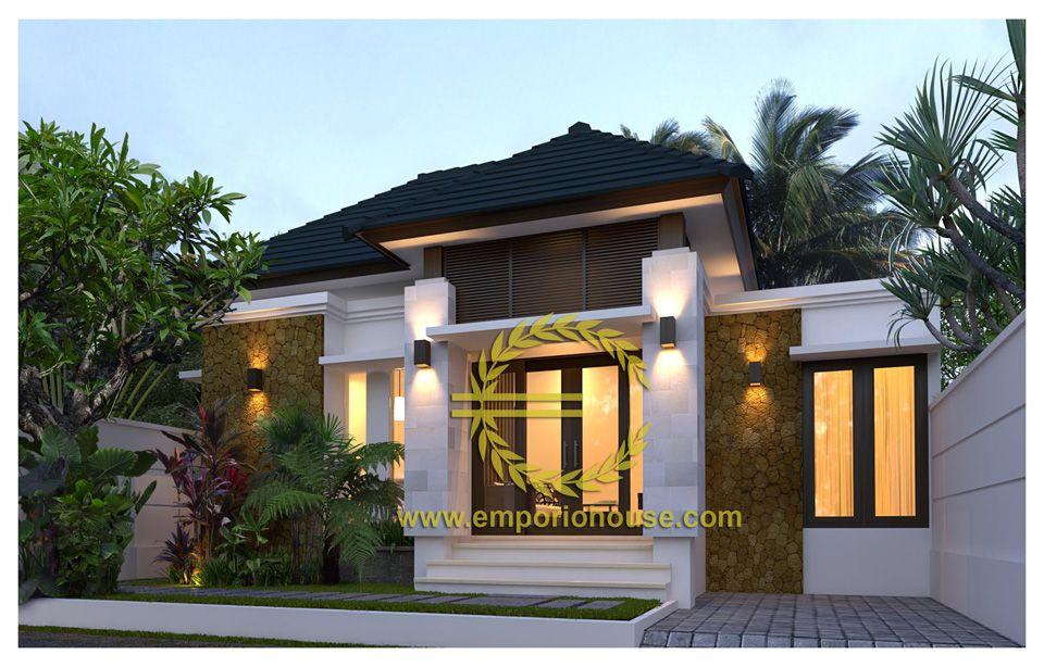 Desain Rumah 1 Lantai 3 kamar Lebar Tanah 11 meter dengan ukuran