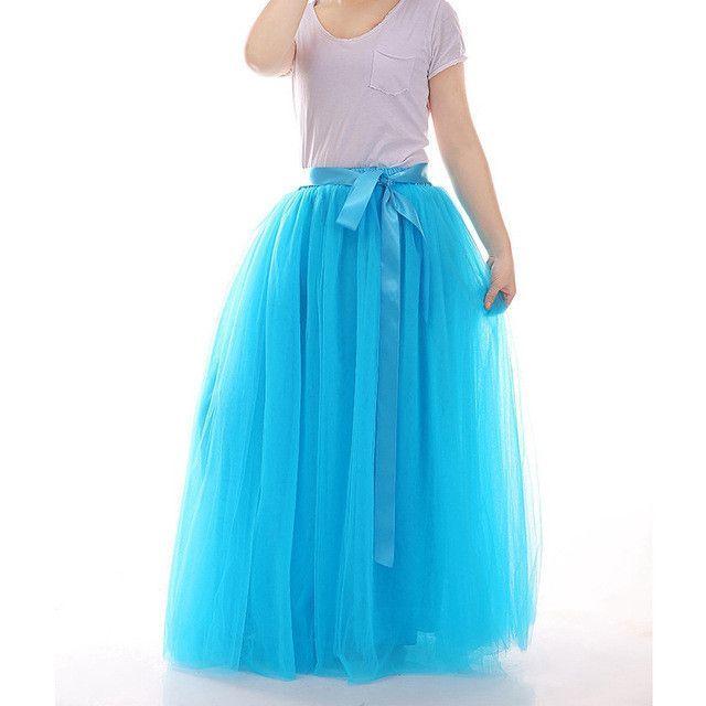 Summer Skirt Long Skirt Tutu Skirts Womens Elastic Petticoa