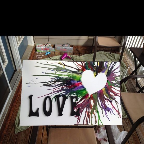 Crayon melting with quotes google search dream create for Arts and crafts ideas for couples