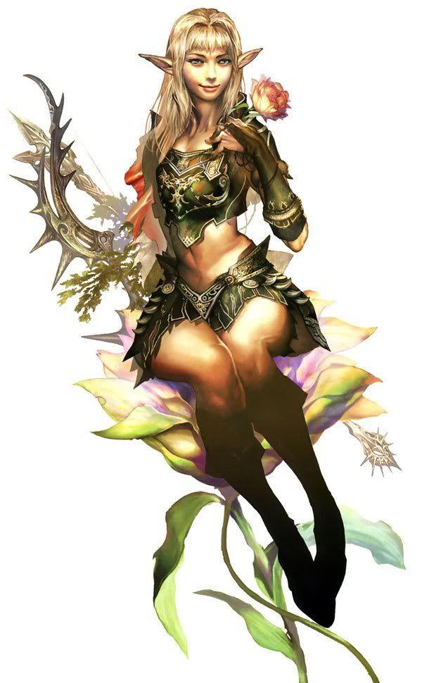 Wood elf anime girl