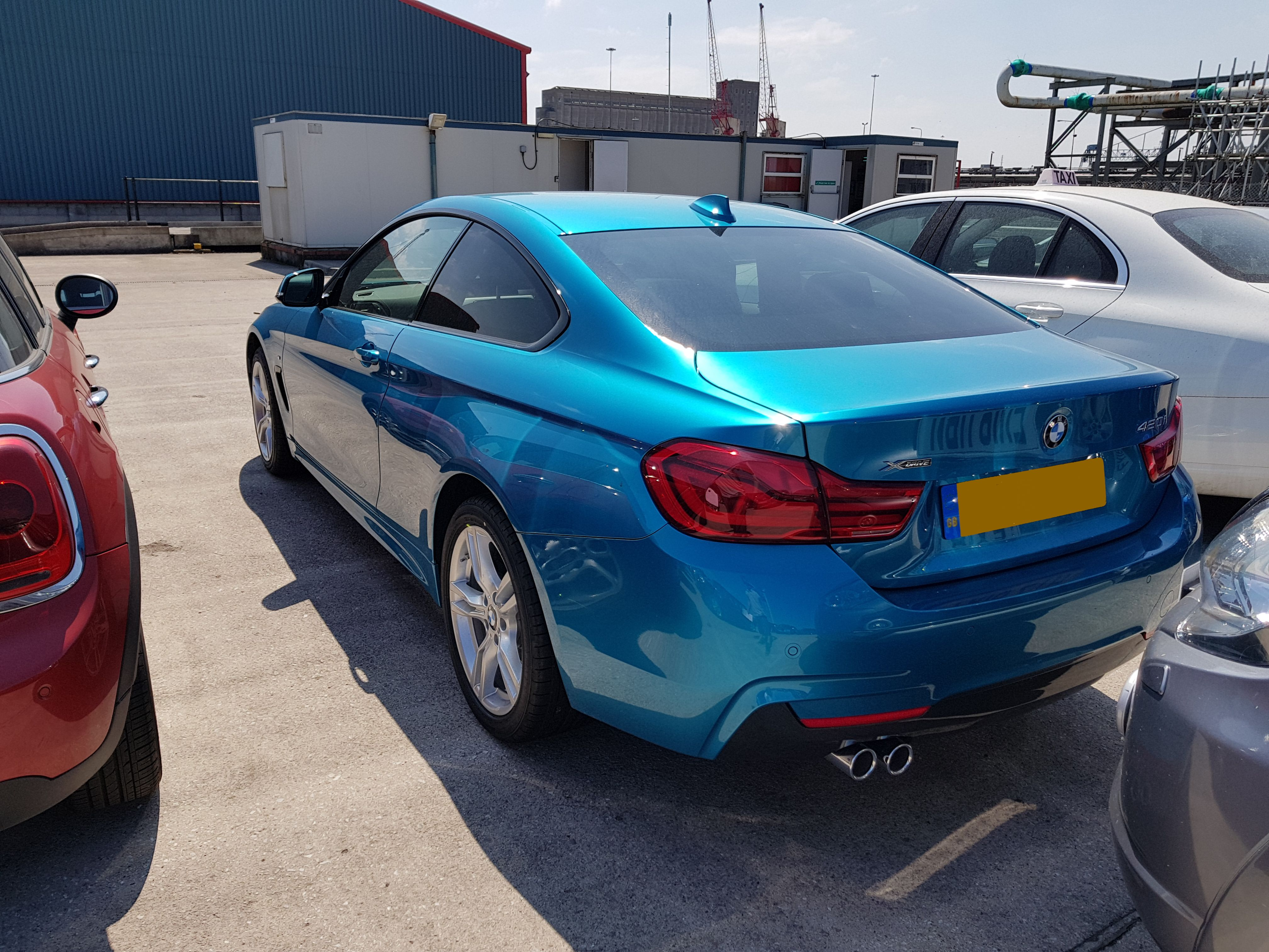 BMW 420 fitted with insurance approved tracker system