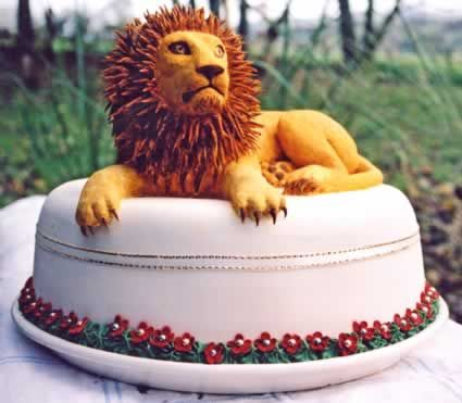 Lion Sweet Love Cake Couture Design