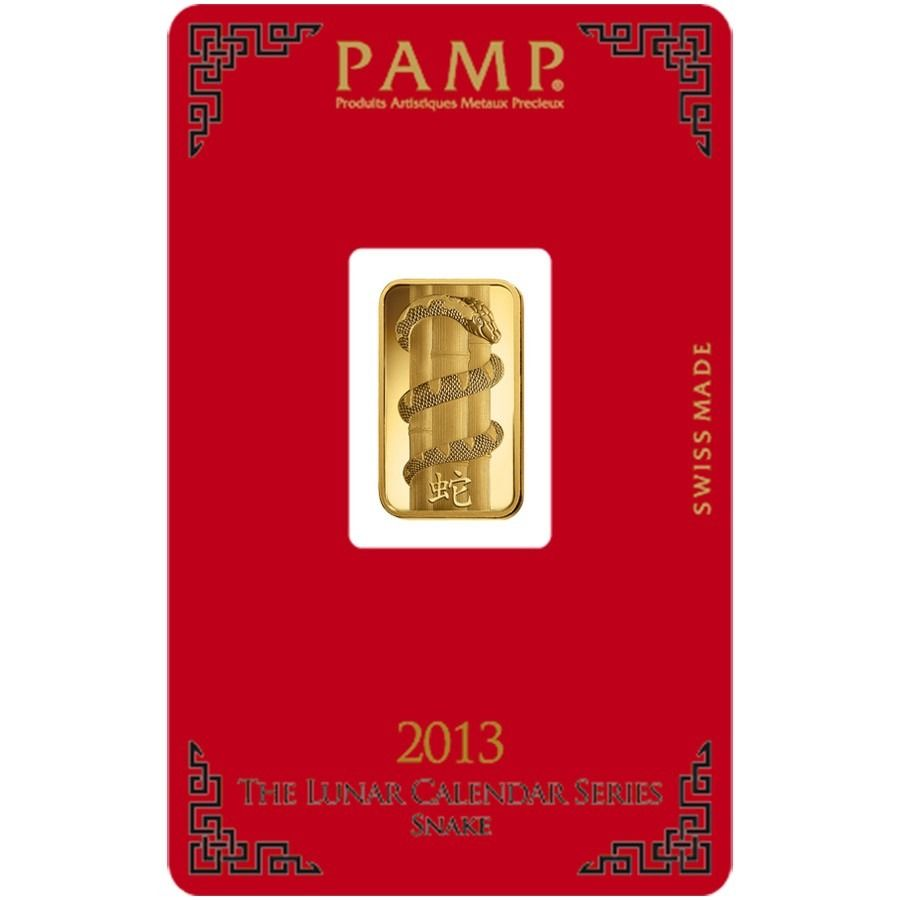 5 Gram Pamp Suisse Year Of The Snake Gold Bar In Assay Gold Bar Year Of The Snake Snake