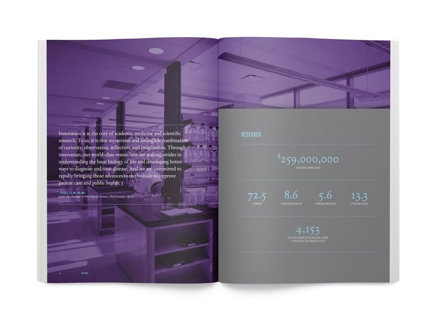 2010 Nyu Langone Medical Center Annual Report Graphis Annual Report Layout Design Print Layout