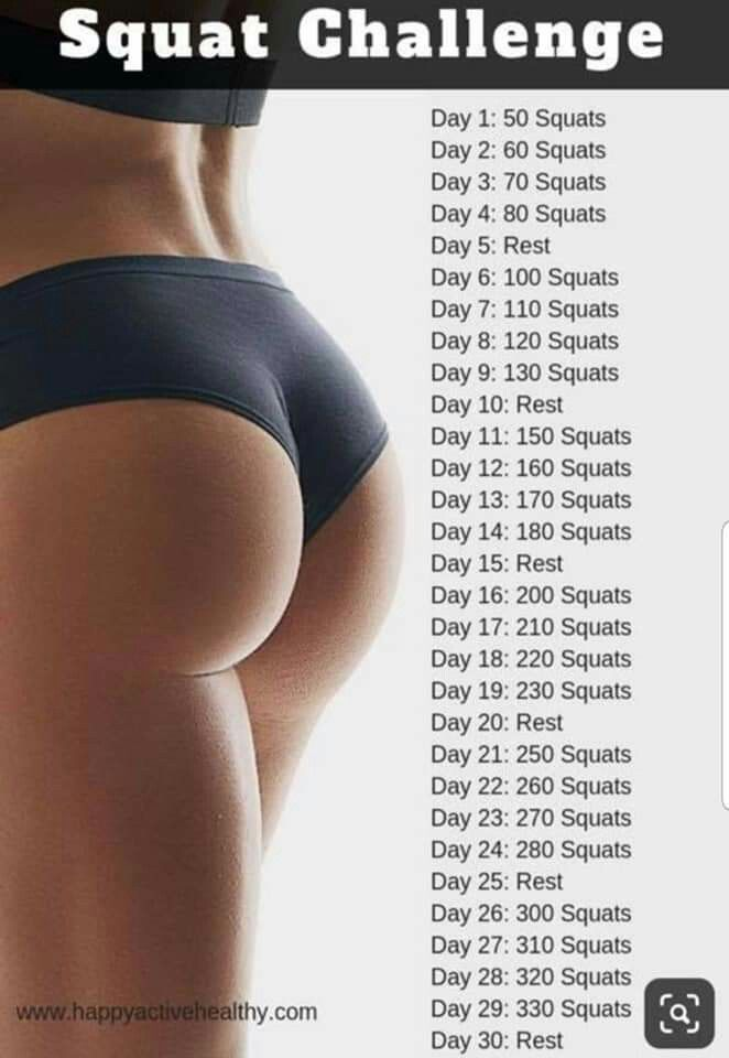 Squat Challenge   - Workin' on my Fitness - #Challenge #Fitness #SQUAT #Workin