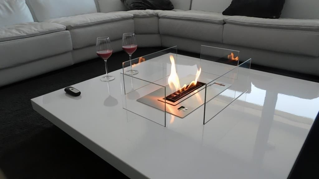 table chemin e bio ethanol automatique avec t l commande http www a. Black Bedroom Furniture Sets. Home Design Ideas