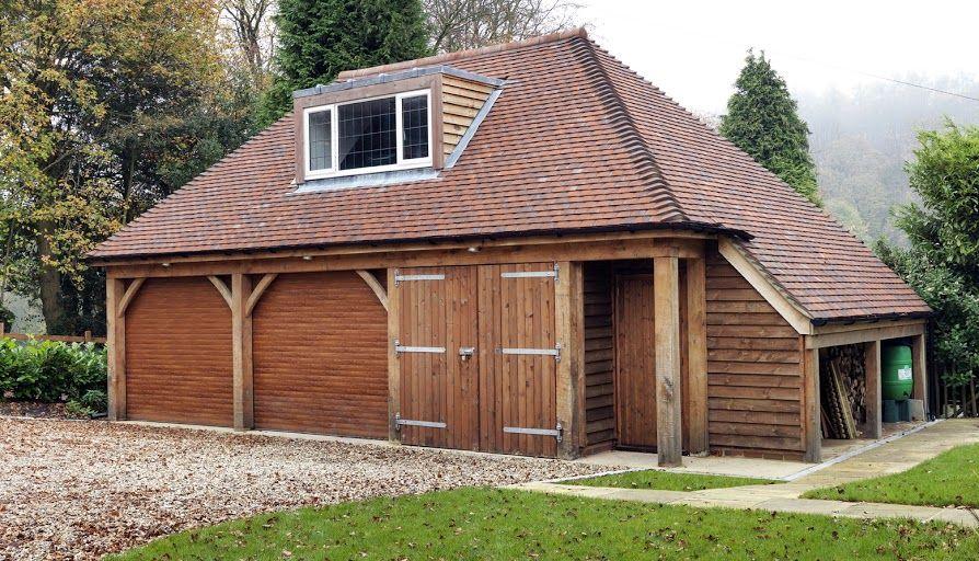 Two storey timber garage