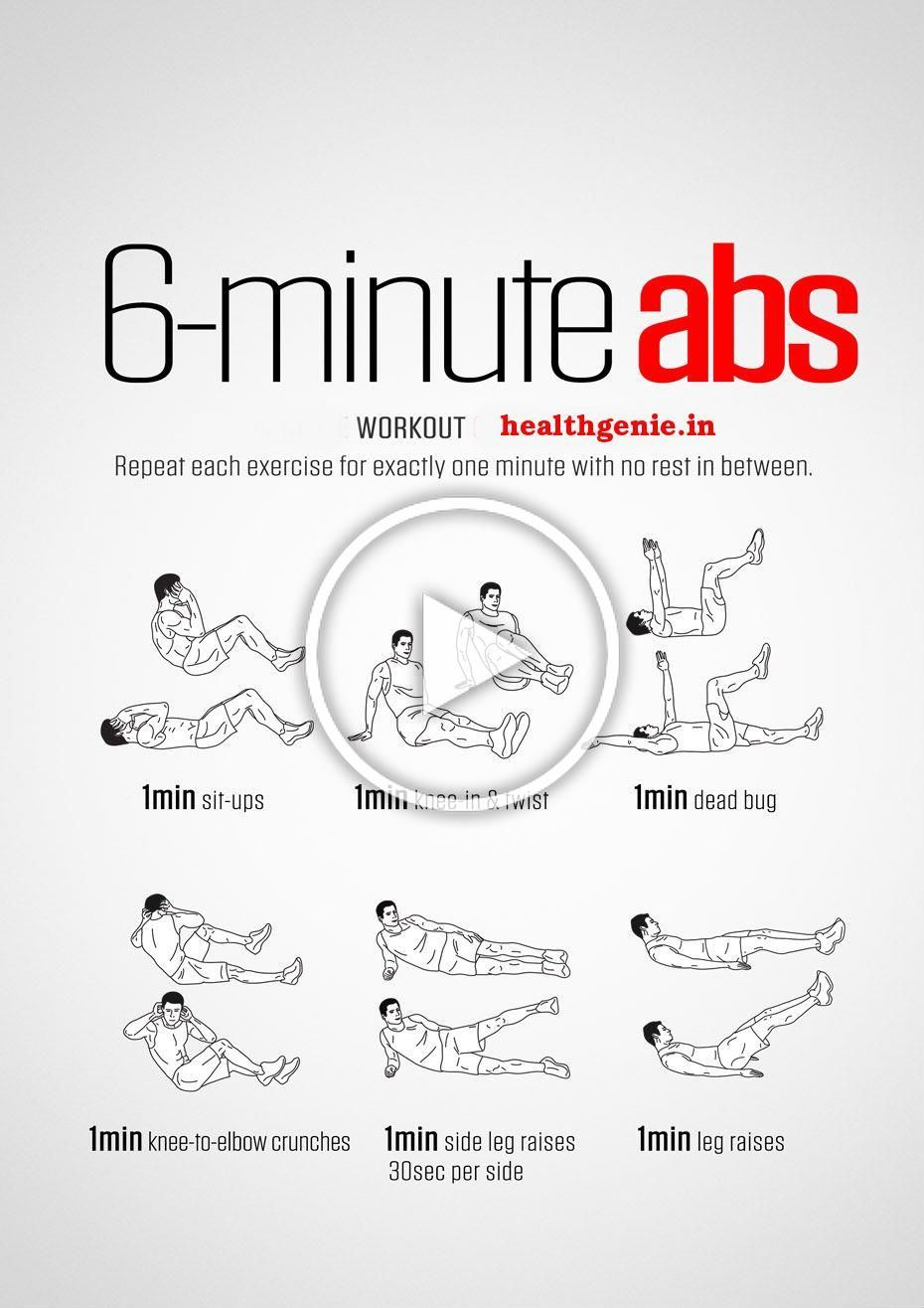 6 Minutes #Abs #Workout #absworkout #flatbelly #exercise #workout #fitness #bodybuilding #musclebuil...