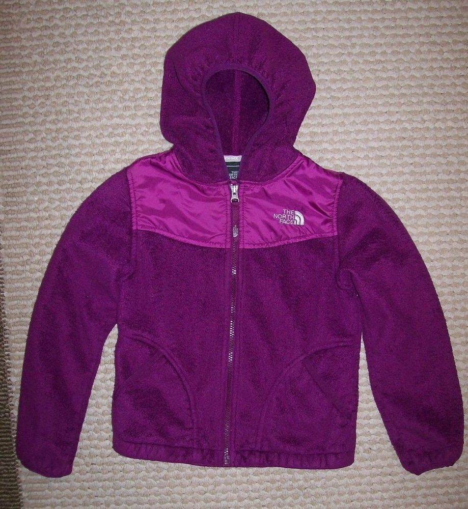 Girls the north face oso hoodie fleece jacket fucshia purple sz s