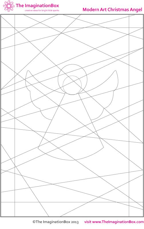 Modern Christmas Angel Coloring Page Christmas Art Project For Kids