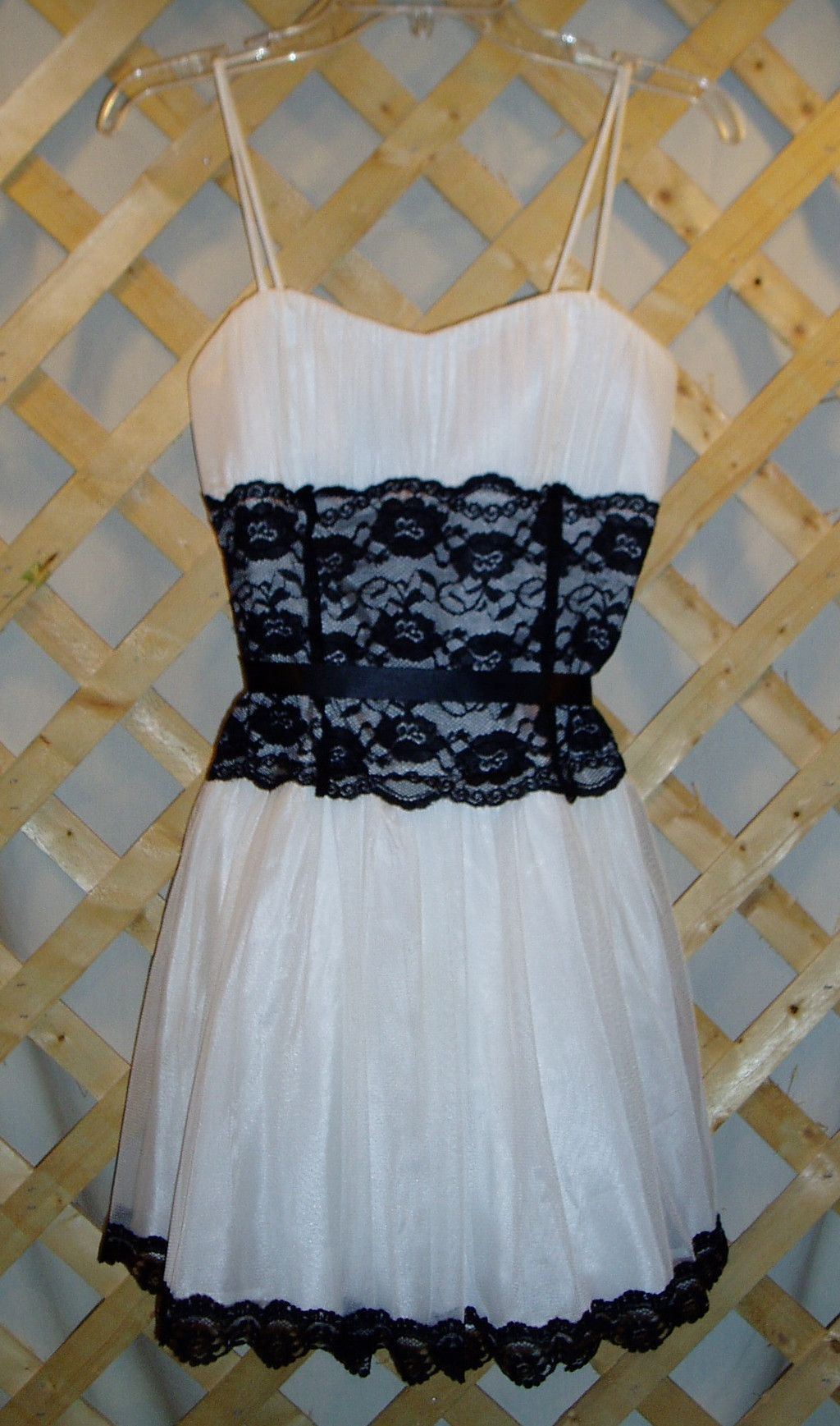 Junior\'s Black & White Formal Dress by Taboo Size M | Color black ...