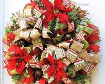 on sale christmas wreaths for front door burlap christmas wreath poinsettia wreath jingle