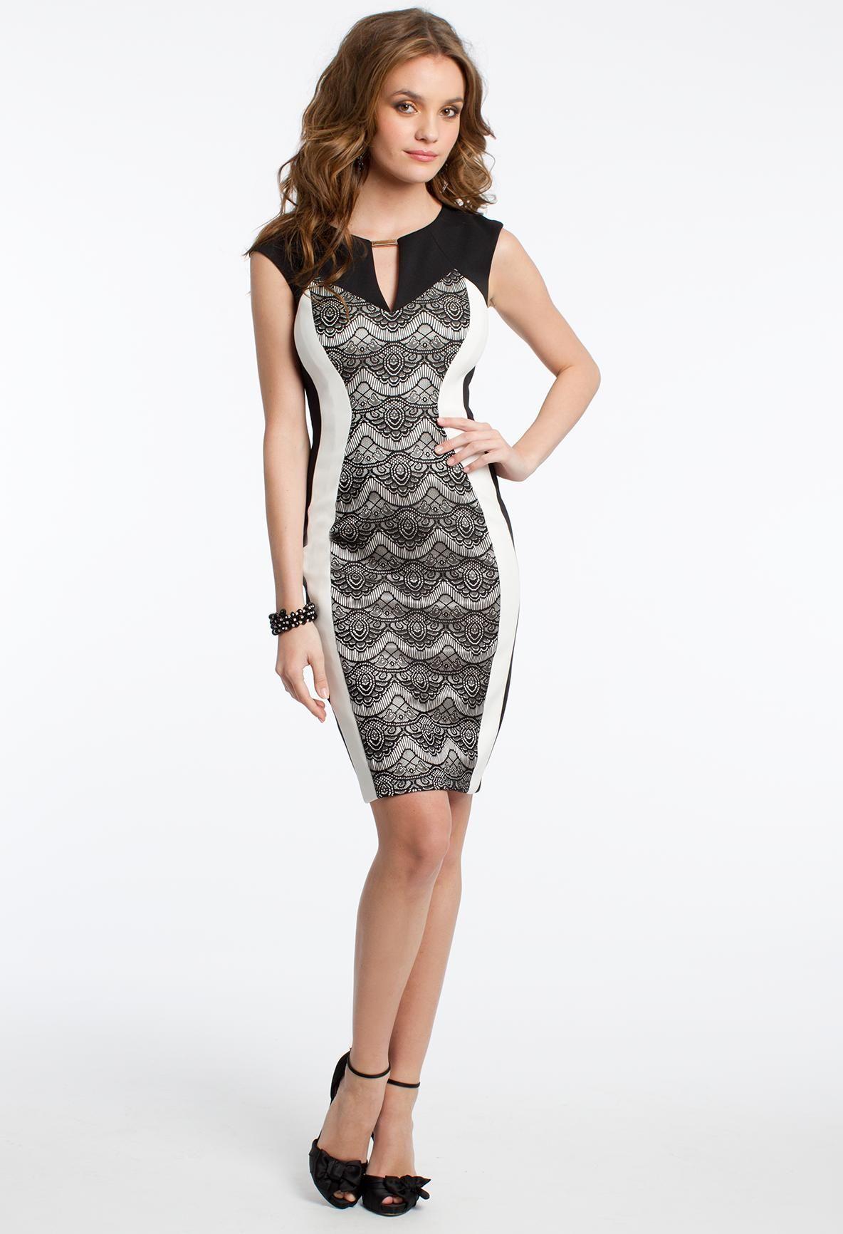 Lace and scuba dress prom dresses short pinterest scuba dress