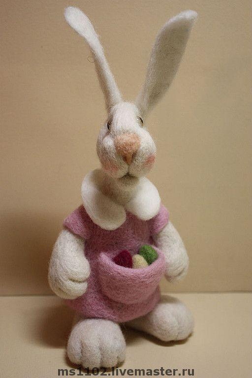 валяние игрушки пасхальный кролик фото захлопнули двери быстро