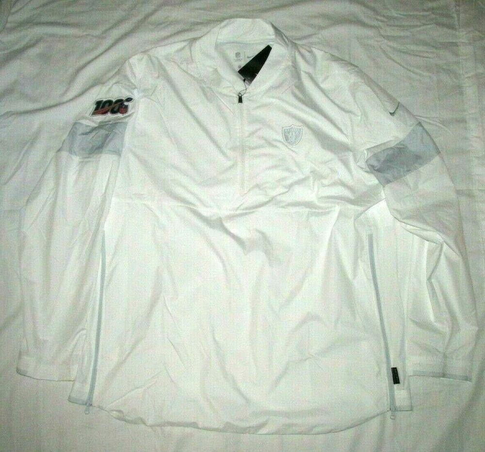 Nike Oakland Raiders Nfl 100 Sideline Platinum Jacket Mens Xl White Cj4659 100 Nike Oaklandraiders Mens Jackets Mens Xl Oakland Raiders
