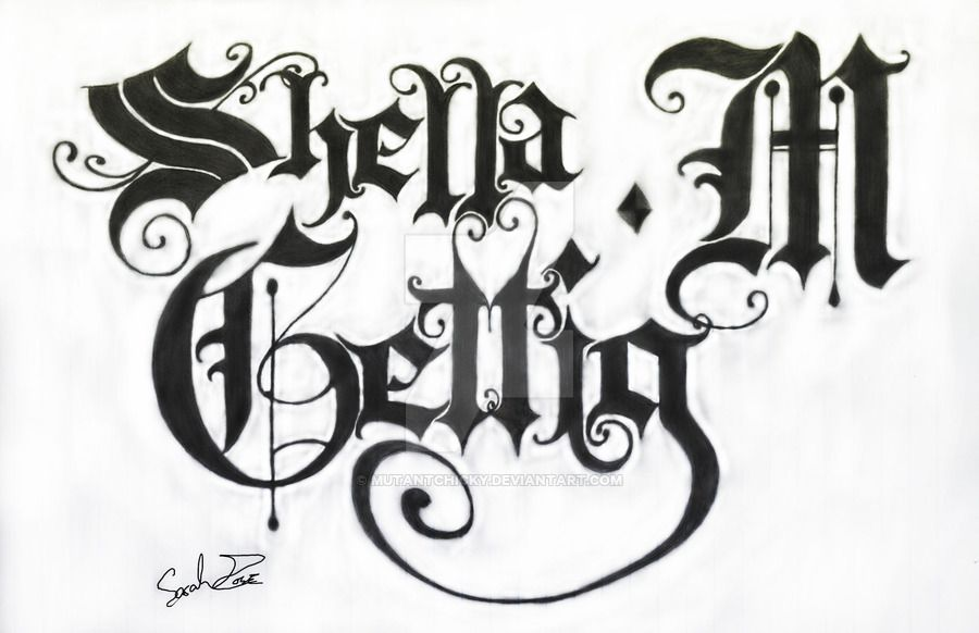 Gothic Lettering By Mutantchicky D4ubgkz 900x582