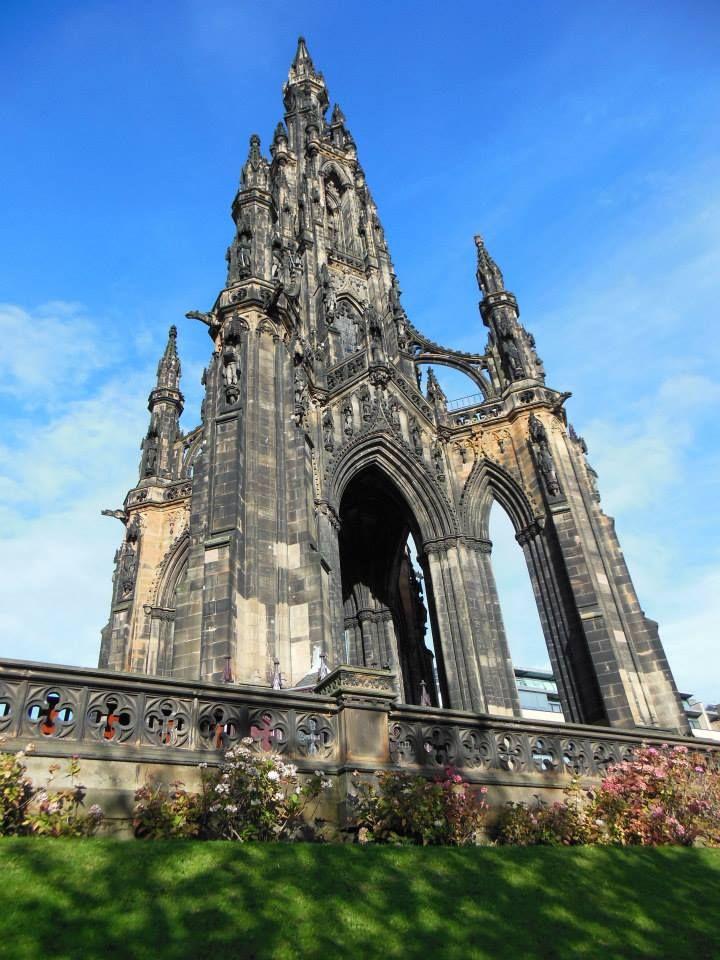 Walter Scott Memorial in Edinburgh, Scotland