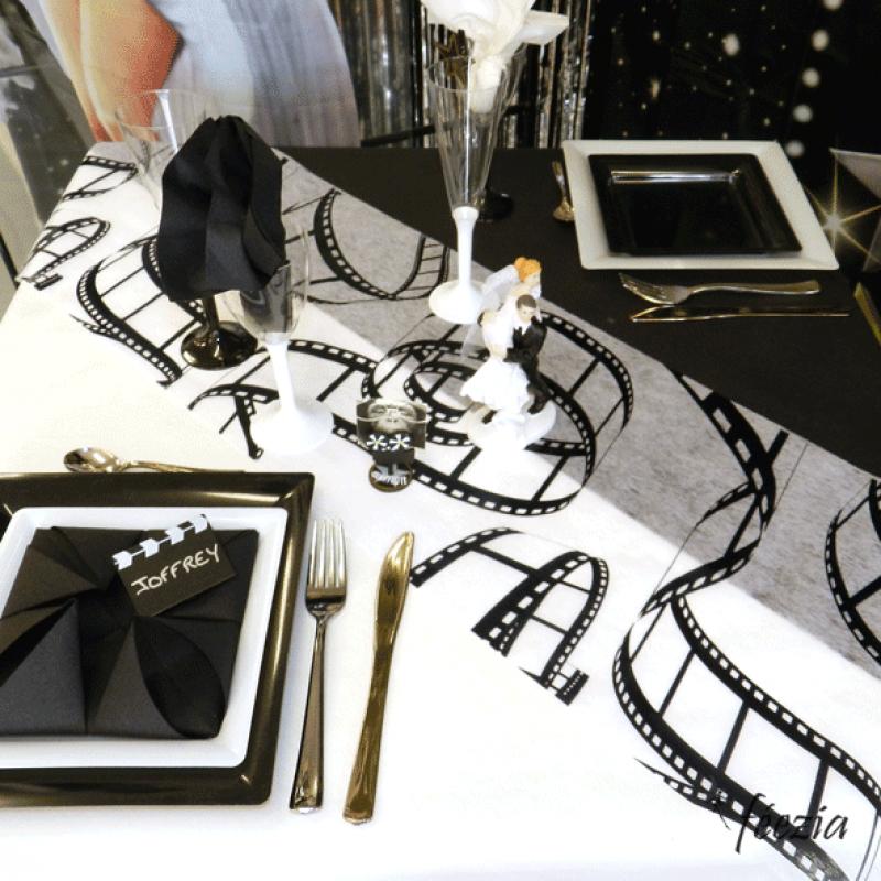 Hollywood theme wedding wedding pinterest nappes for Table theme cinema