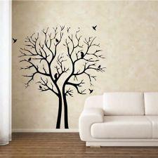 Details About Birds In A Tree Art Mural Stencil Wall Sticker