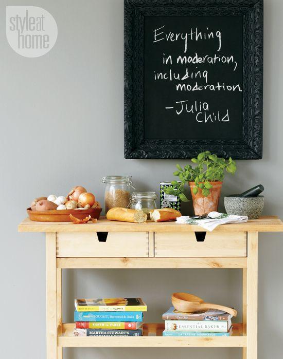 framed chalkboard - Chalkboard Ideas For Kitchen