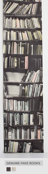 Genuine Fake Bookshelf From Deborah Bowness Book Wallpaper Collection