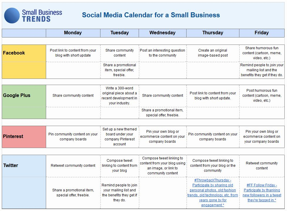 24 Content Marketing Calendar Template in 2020 Social