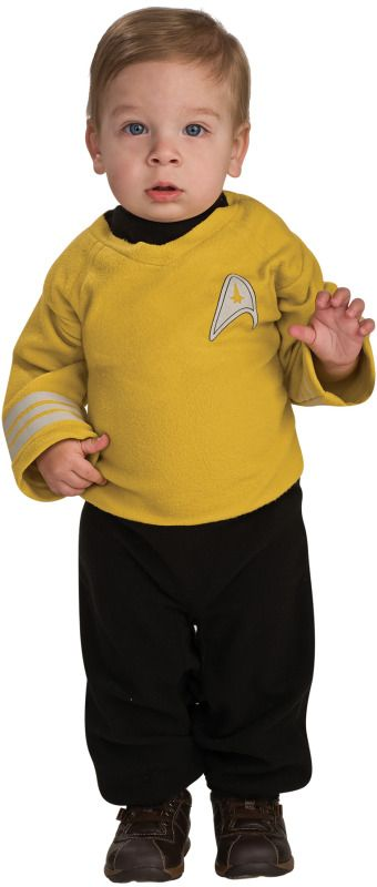 Infants Captain Kirk Star Trek Costume - Board the USS Enterprise and go  where no man has gone before.  This is the officially licensed Captain Kirk ...  sc 1 st  Pinterest & Infants Captain Kirk Star Trek Costume | Costumes and Toddler costumes