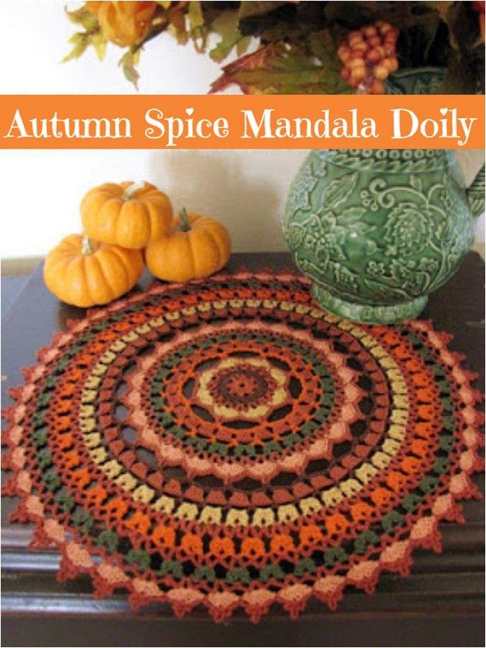 Colorful Crochet Mandala Patterns - #crochetmandalapattern