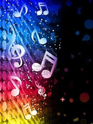 Party Abstract Colorful Waves On Black Background With Music Music Notes Background Music Notes Art Music Note Party