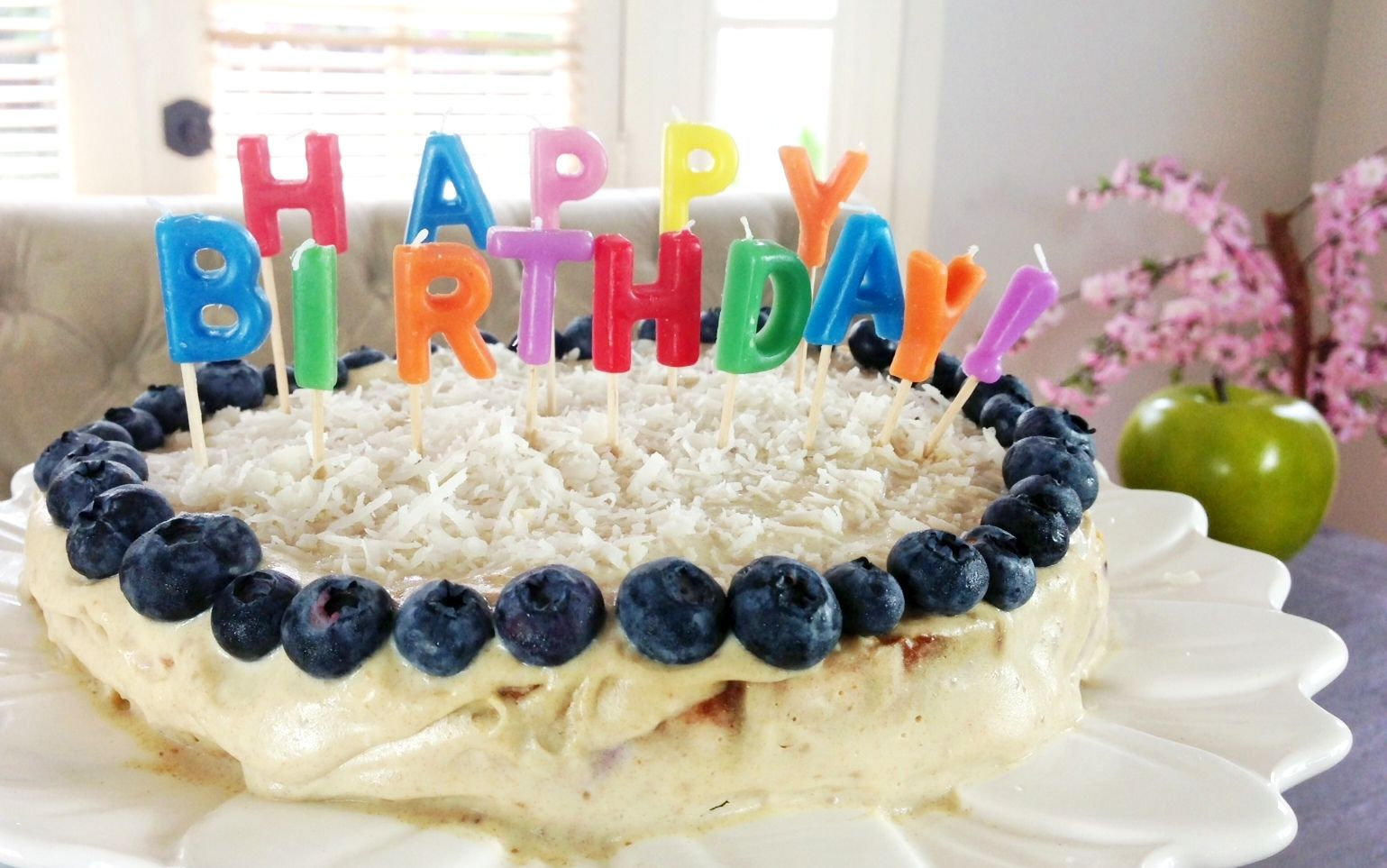 Low calorie and healthy blueberrylemon birthday cake Fit snacks