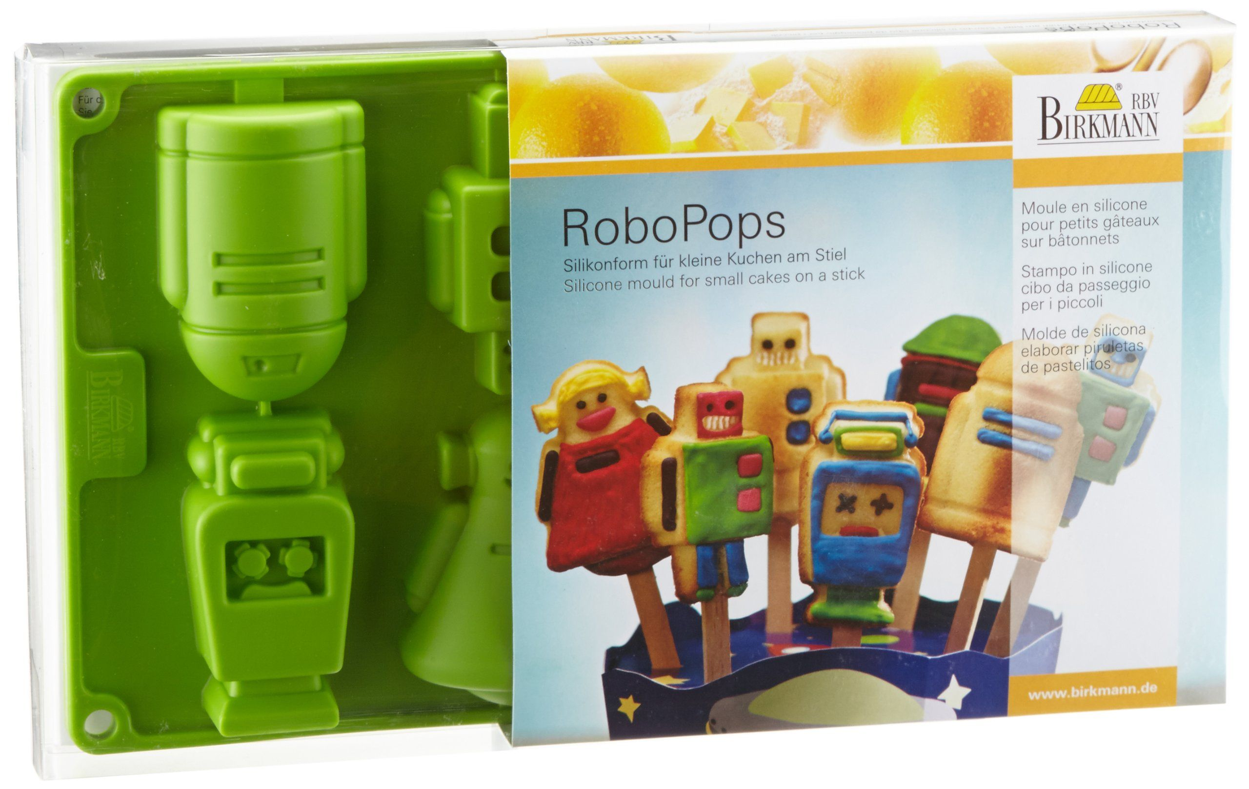 Birkmann robopops robot shaped silicone mold for small