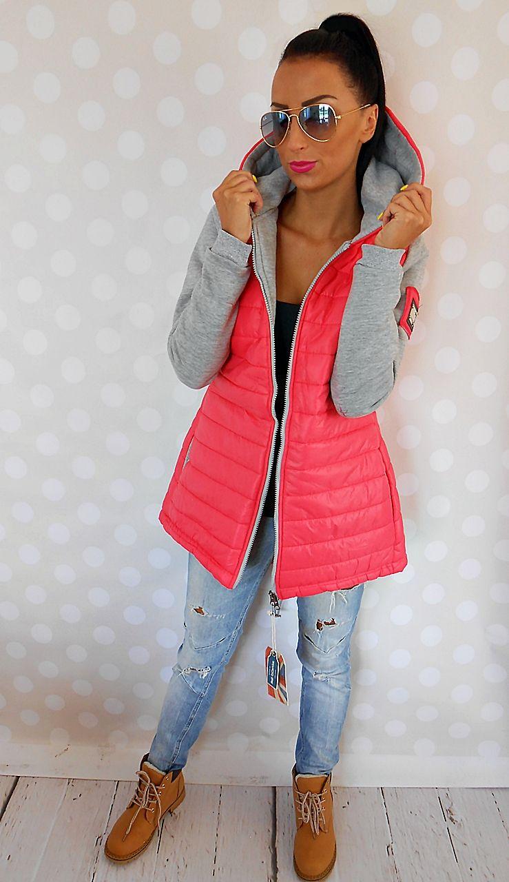 Damska Pikowana Parka Nowosc Czerwien 6533 Roz M 5689794744 Oficjalne Archiwum Allegro My Style Fashion Jackets