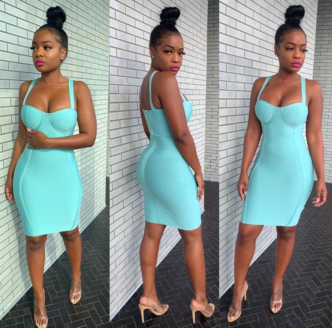 Bodycon Dress Turquoise Bodycon Dress Blue Bandage Dress 18th Birthday Outfit [ 1067 x 1080 Pixel ]