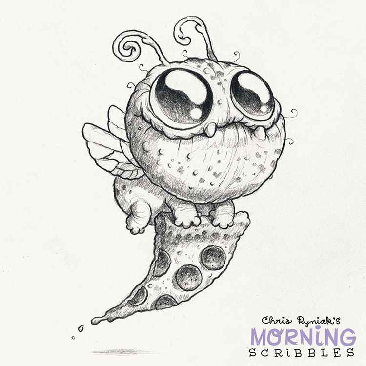 Pizza Bug Morningscribbles Pizza Disegni Drawings Monster