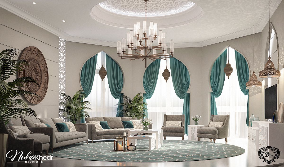 Top Image Moroccan Living Room Modern