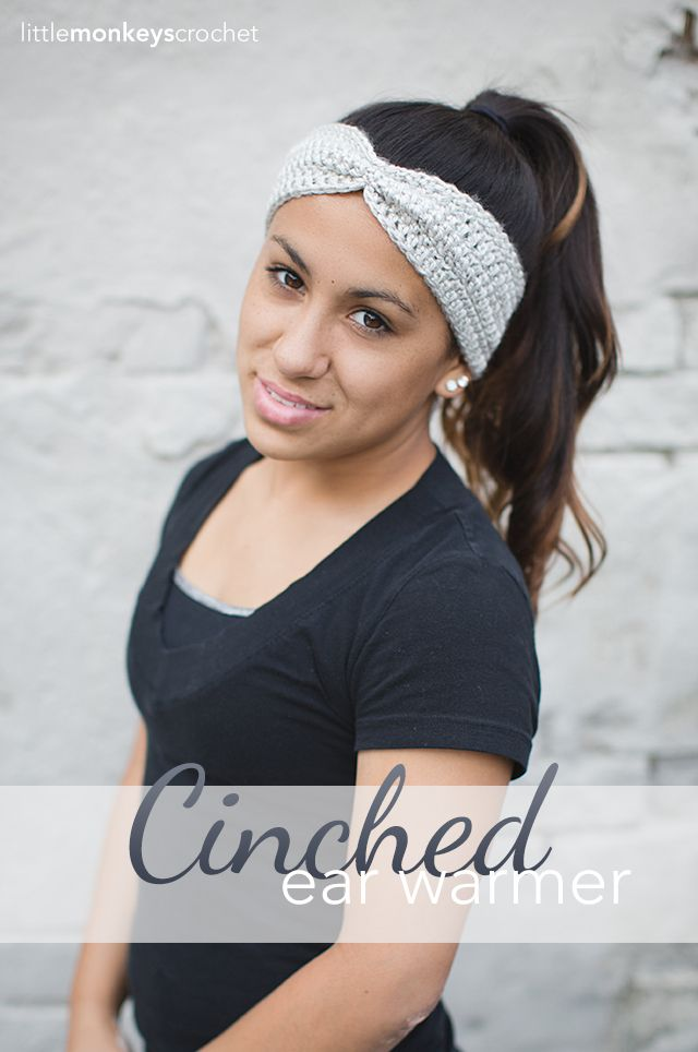 Cinched Ear Warmer Headband Crochet Pattern (Free Pattern!) | By ...