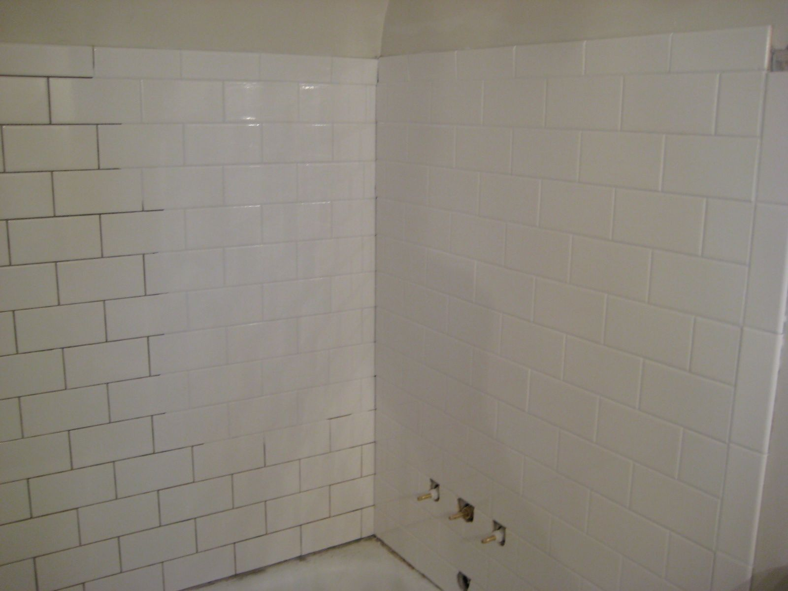 White subway tile white grout image collections tile flooring white subway tile shower gray grout google search master bath white subway tile shower gray grout dailygadgetfo Images