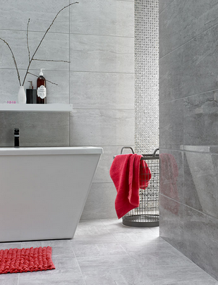 Floor Tile Decor Ditto Light & Dark Grey 248X498Cm Wall Tilesbritish Ceramic