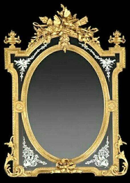 Pin de cinthia samaniego en espejos pinterest espejo for Espejos dorados ovalados