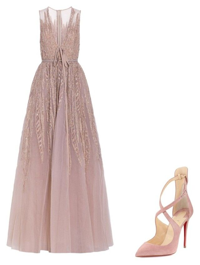 """"""""""" by melodyleighmitchell on Polyvore featuring Elie Saab and Christian Louboutin"""