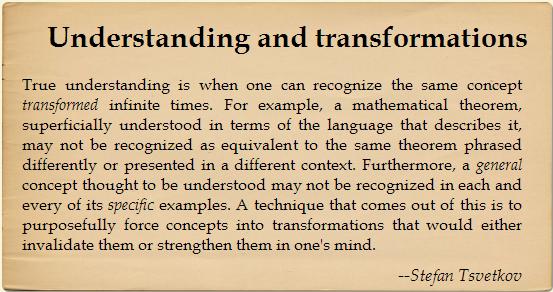 Understanding and transformations by Stefan Tsvetkov | Insightopedia.com