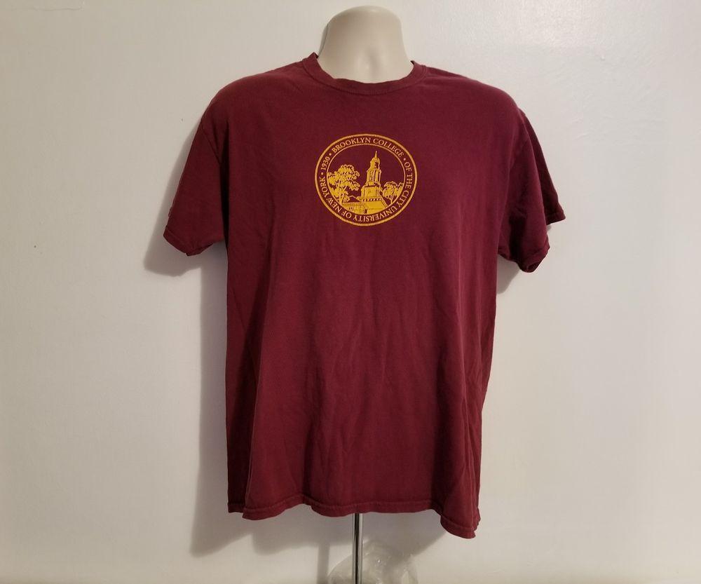 Brooklyn College The University of New York 1930 Adult Large Burgundy TShirt #Gildan #GraphicTee