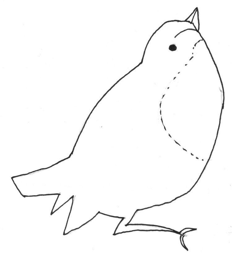 Malvorlage Vogel Oder Spatz Zum Nachmachen Basteln