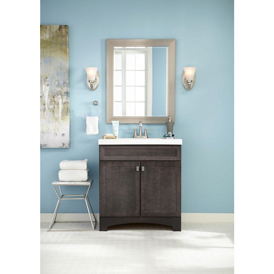 Shop Style Selections Drayden Grey Integral Single Sink Bathroom Vanity With Cultured Marble T Single Sink Bathroom Vanity Bathroom Sink Vanity Bathroom Vanity