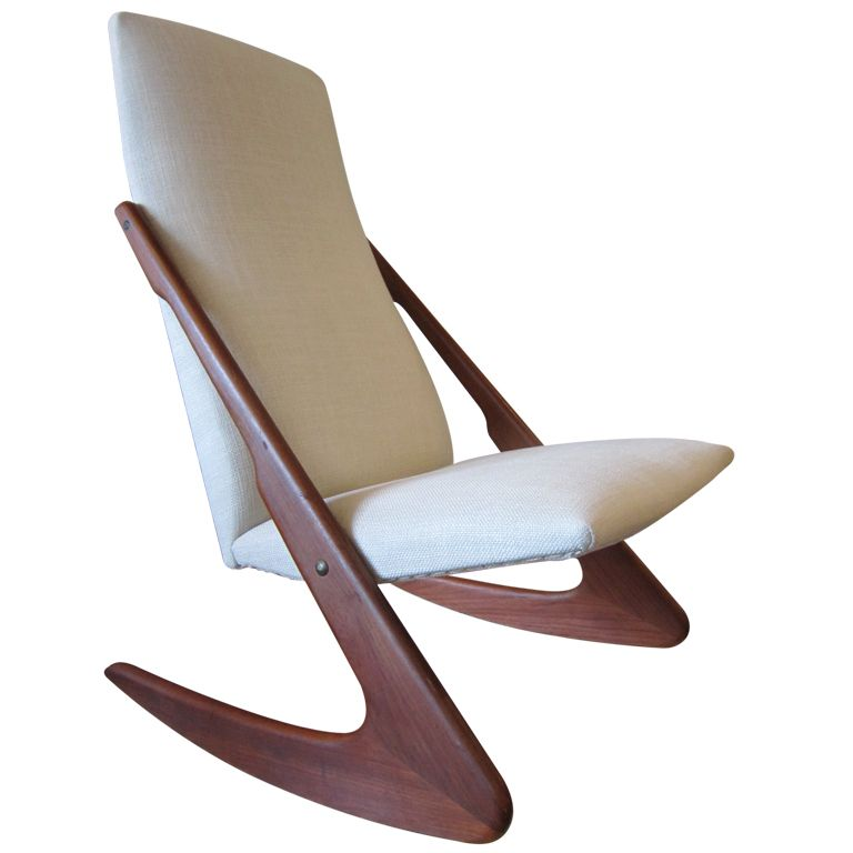 Amazing Very Rare Armless Rocker Designed By Adrian Pearsall For Craft Associates  1950s. I Have One