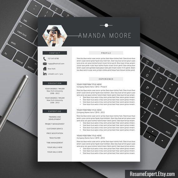 Pin Von Job Resume Auf Job Resume Samples: Professional Resume Template Bundle, Cover Letter ,CV